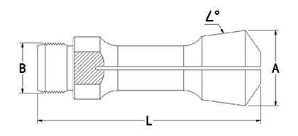 Technical Drawing of Diamond Collet Tools