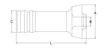Technical Drawing of Industrial Button Collets