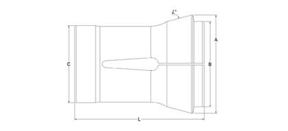 Technical Drawing of Machine Collet A-60